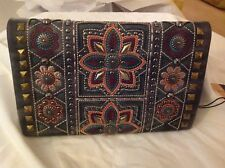 American Bling/  Leather, Medium, Strap Drop 23/clutch/wallet/cross body