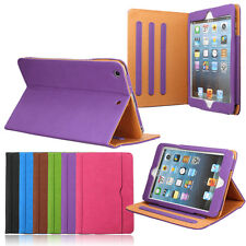 Smart Sleep/Wake Leather Wallet Stand Case Cover For iPad 2 3 4 5 Air 2/Mini/Pro