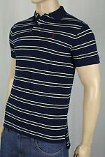 Polo Ralph Lauren Navy Green Striped Custom Fit Mesh Shirt Burgundy Pony NWT
