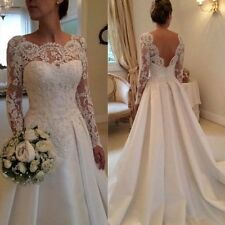 New white ivory lace Wedding Dresses Bridal Gown Custom size 4 6 8 10 12 14 16+