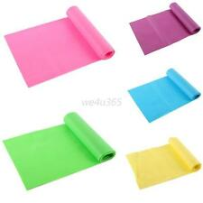 Fitness Sweet Color Elastic Yoga Pilates Rubber Stretch Resistance Exercise Band