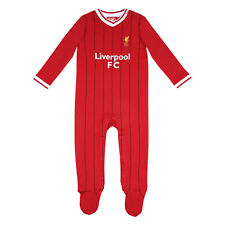 Liverpool FC Official Football Gift Home Kit Baby Sleepsuit Red