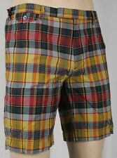 Polo Ralph Lauren Gold Red Plaid Madras Shorts NWT
