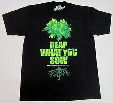 STREETWISE HARVEST T-shirt Reap What You Sow Marijuana Tee Adult L-4XL Black NWT