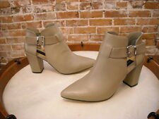 Steve Madden Pammie Taupe Leather Pointed Toe Bootie New