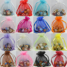 25-100 Organza Jewelry Packing Pouch Wedding Favor Gift Bags 9x7cm/12x9cm DIY