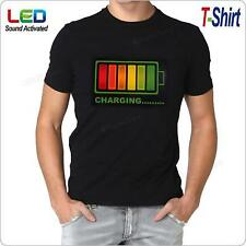 Sound Activated RGB LED Flashing T-Shirt for Disco Music Concert Party Dance Pub