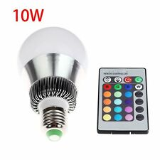 10W Color Changing RGB LED Bulb Lamp Change Light E27 with Remote DL