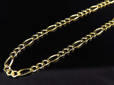 Solid 10K Yellow Gold 2.5MM Figaro Chain Necklace Lobster Clasp 16-26 Inches