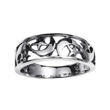 Ancient Eastern Star and Crescent Moon Cut-out Sterling Silver Ring (Thailand)