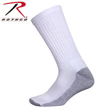 6539 Rothco White Crew Socks With Cushion Sole