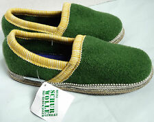 WESENJAK MOC Boiled Wool House SLIPPER Gummed Sole GREEN GOLD YELLOW Mens Womens