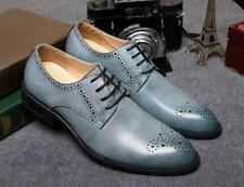 New fashion casual Mens Brogue Oxfords Wing Tip Lace Up Dress formal Shoes