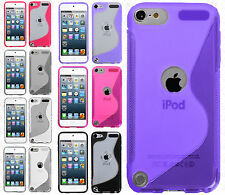For iPod Touch 6 6th Gen TPU Gummy S-Line Flexi Skin Case Cover S-Shape