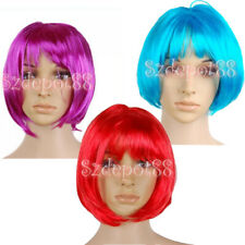 Fashion Punk Bob Full Short Wig Costume Cosplay Party Lady Fancy Dress 3 Colours