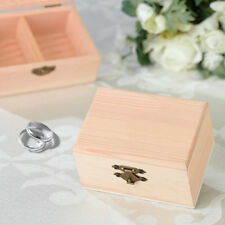 Personalized Pine Wood Wedding Ring Box Ring Pillow Alternative - 5 Designs