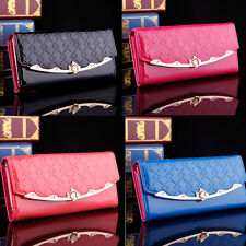 Fashion Women Clutch Long Purse PU Leather Wallet Card Holder Soft Handbag Bags