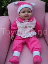 49cm LOVELY LAUGHING DOLL BABY DOLL REAL LIFE LOOKING DRESSED IN BABY GROW