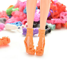 15/30/60 Pairs Colorful Assorted Shoes for Barbie Doll with Different CEF31