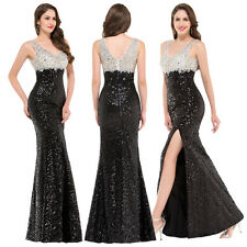 Sequined Long Formal Evening Ball Gown Wedding Cocktail Bridesmaid Prom Dresses