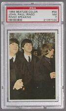 1964 THE BEATLES COLOR JOHN PAUL RINGO WITH RINGO SPEAKING CARD #59 PSA 7 NM