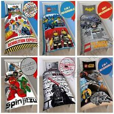 OFFICIAL LEGO SINGLE DOONA QUILT COVERS – CITY, MOVIE, NINJAGO & SUPERHEROES