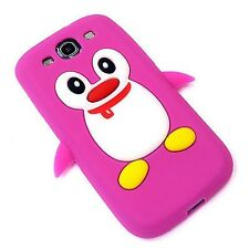 Cute & Stylish Penguin Silicone Case Cover Skin for Samsung Galaxy S3 III i930