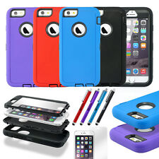 For iPhone 6 6S Plus Hybrid Shockproof Rugged Rubber Matte Hard Case Skin Cover