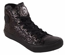 Diesel Women's Sneakers High Boots Shoes Black #77