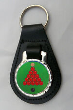 SNOOKER LEATHER KEY FOB Keyring Gift Choice of Colours NEW