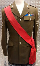 Genuine British Army Guards / Army Sergeants Sgts Red Sash - All Sizes