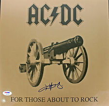 Angus Young AC/DC For Those About To Rock Signed Album Cover W/ Vinyl PSA Z92955