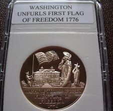 American Revolution Proof Medal 19 Washington Unfurls First Flag of Freedom 1776