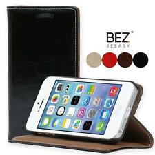 iPhone 5 5S Flip Glossy Leather Case Card Slot Pouch Cover