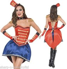 6 Piece Ladies Sexy Ringmaster Corset Circus Carnival Fancy Dress Costume Outfit