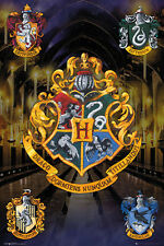 Harry Potter Crests Poster New - Maxi Size 91.5 x 61cm