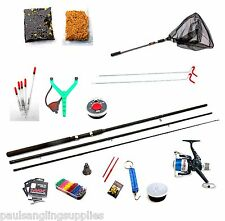 Carbo 12ft Float Fishing Starter Kit Rod,Reel,Line,Rod Rest,Hooks,shot,Bait Net