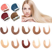 Seamless Tape In Skin Weft 100% Remy Human Hair Extensions Hair 16-24Inch 20Pcs