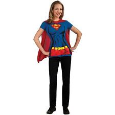 Adult Supergirl Shirt Easy Costume Halloween Costume Fancy Dress Superman DC