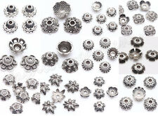 100pcs Tibet Silver Metal Loose Spacer Bead Caps 6/7/8/9/10mm Jewelry Finding