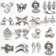 Wholesale 10/20pcs Tibet Silver Metal Loose Spacer Bead Pendant Jewelry Finding