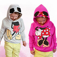 Baby Girls Boys Kids Mickey Minnie Mouse Hoodies Sweatshirt T-shirt Jumper Tops