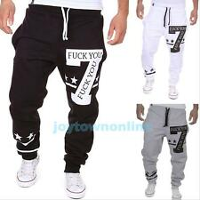 Mens Casual Jogging Training Sweat Pants Dance Sports Trousers Tracksuit Bottoms