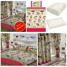 HOWDY COWBOY BEDROOM RANGE SINGLE DOUBLE JUNIOR & CURTAINS AVAILABLE KIDS NEW