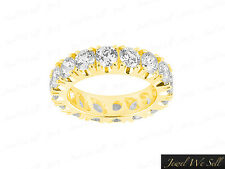 3.00Ct Round Brilliant Cut Diamond Anniversary Eternity Band Ring 14K Gold G SI1