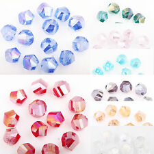 50 Facted Czech Crystal Glass Loose Spacer Bead Charm Finding Making Craft 8mm