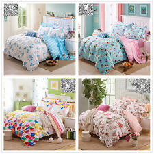 Floral 100%Cotton Duvet/Quilt/Doona Cover Set Double Queen King Size Bed Linen