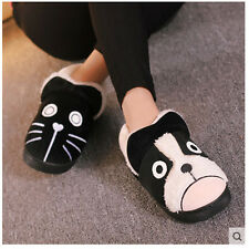 Women Men Plush Slippers Winter Warm Bedroom  Fluffy Lovers Cats and Dogs Shoes