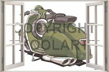 Huge 3D Koolart Window view Vespa 150 Wall Sticker Poster 2554