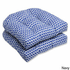 Pillow Perfect Seeing Spots Wicker Seat Outdoor Cushions (Set of 2)